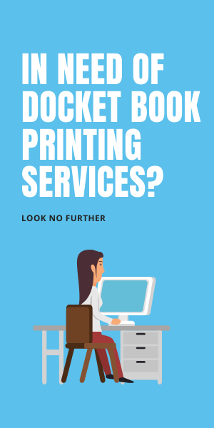 Docket book printing